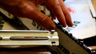 How to Sharpen Chain Saw blade Video