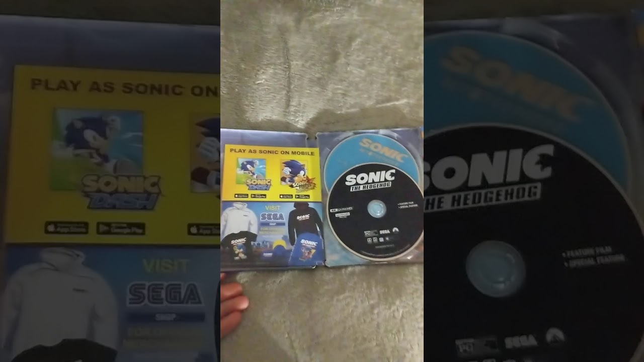 Sonic Movie Blue Ray Combo Pack With The Adventures Of Sonic Donut Lord Limited Edition Comic Youtube