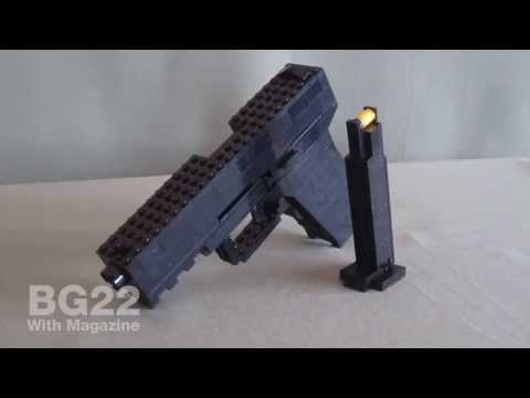 Lego Brick Gun Beretta 92fs Stop Motion Actionws Abc Action