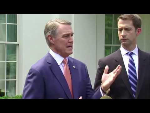 August 2, 2017: Sen. Cotton and Sen. Perdue Answer Questions about the RAISE Act at the White House
