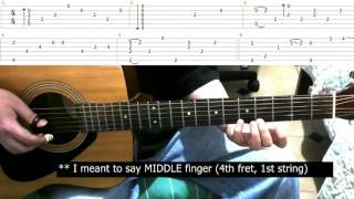 Rainy Day | Sungha Jung | Guitar Lesson Tutorial & Tabs - Part 1