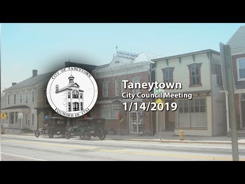 Taneytown City Council Meeting 1 14 2019