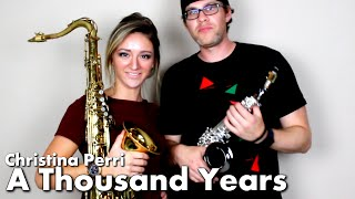A Thousand Years - Christina Perri - Tenor & Soprano Sax Cover - BriansThing & Mandy Faddis