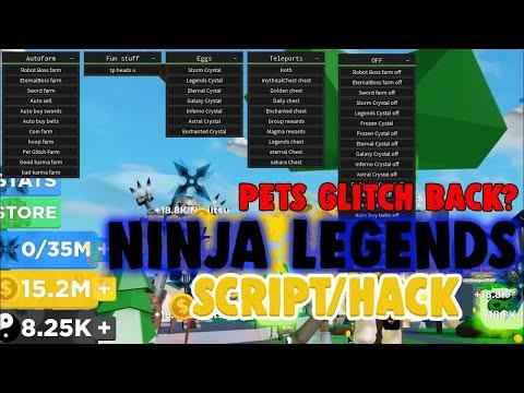 New Ninja Legends Gui Pastebin Script Youtube