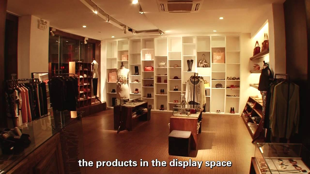 Led lighting design project for clothing shop with led focus spotlight youtube