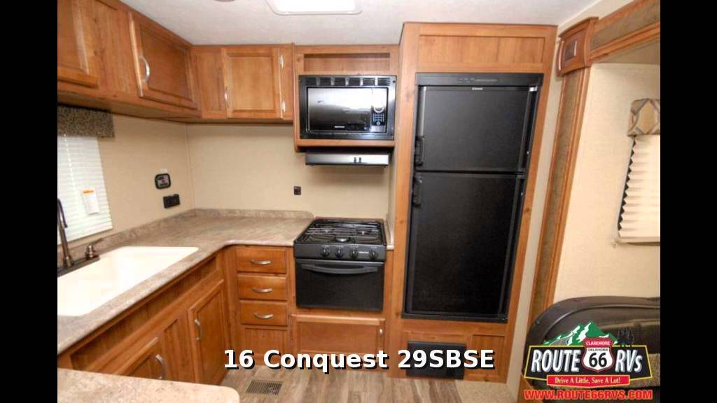2016 gulf stream conquest 29sbse, travel trailer rear kitchen, in