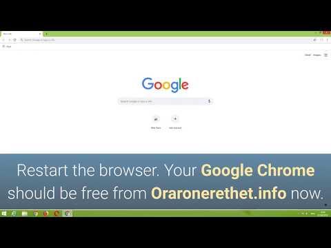 How to remove Oraronerethet info ads - CompuTips