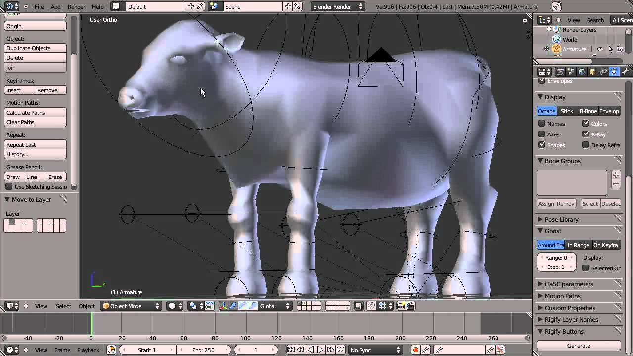 How to rig a quadraped using rigify in Blender 2 5