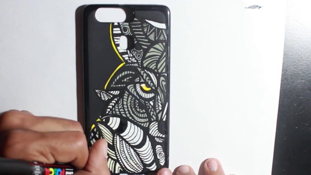 the best attitude 538d4 4995d DIY Custom Phone Case - ZENTANGLE WOLF