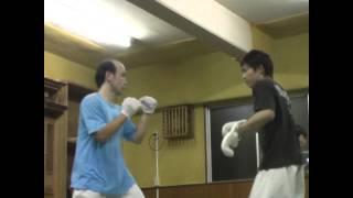 新極真会福島支部三瓶道場のスパーリングの様子(2009年~2010年撮影)