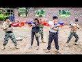 LTT Game Nerf War : Winter Warriors Nerf Guns Elite Rapidstrike Fight Attack Criminal Group