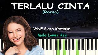 TERLALU CINTA Piano Karaoke Male Lower Key