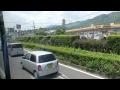 空港バス 前面展望 車窓 別府→大分空港/ 大分交通 別府1037発