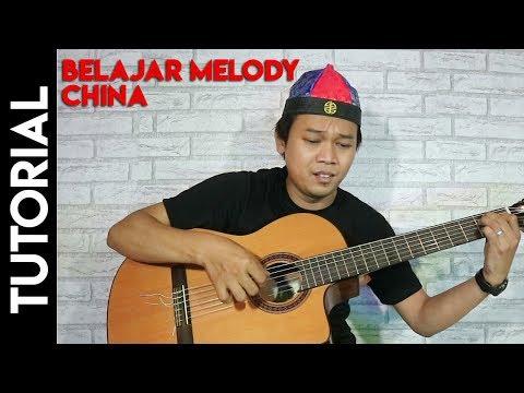 Belajar Melody gitar Musik Oriental China