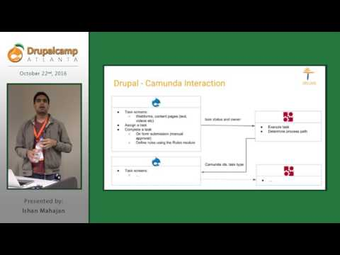 DrupalCamp Atlanta 2016: Drupal & Camunda, a BPMN workflow management system (Ishan Mahajan) on YouTube