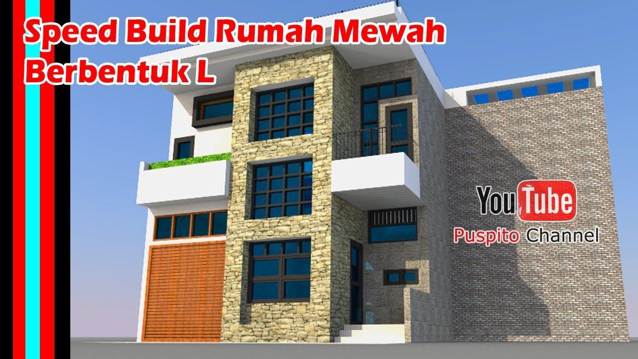 Desain Rumah Modern Minimalis 8x12 Lantai 2 bentuk L ...