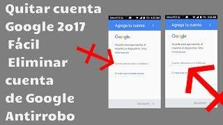 Coolpad 3622A Quitar cuenta Google 2o17 Fácil Eliminar cuenta de Google Antirrobo