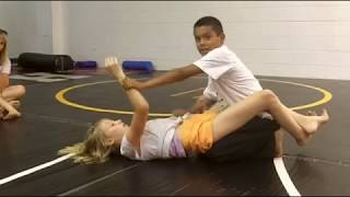 Boy and Girl Wrestling Learning Class