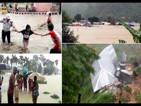 Flash floods, landslide wreak havoc in Northeast