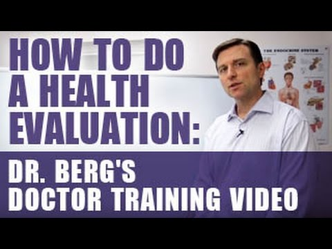 How to do a Health Evaluation: Dr. Berg's Doctor Training Video