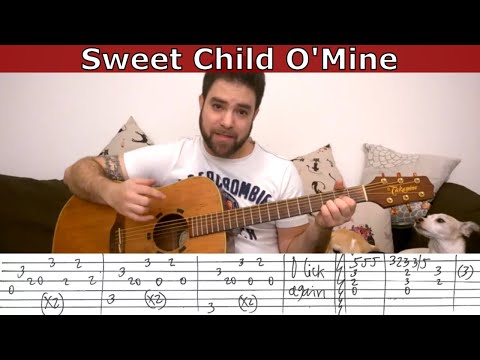 Fingerstyle Tutorial: Sweet Child O' Mine - Guitar Lesson W/ TAB