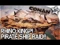 watch he video of EPIC PIRATE SHIP RAID, RARE LOOT, ELEPHANT, RHINO KING BATTLE?!? - Conan Exiles Gameplay Part 12