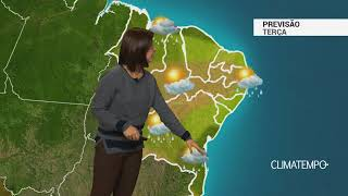 Previsão Nordeste – Frente fria no litoral da Bahia