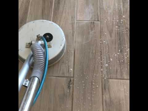Wood look tile cleaning by Litwin's