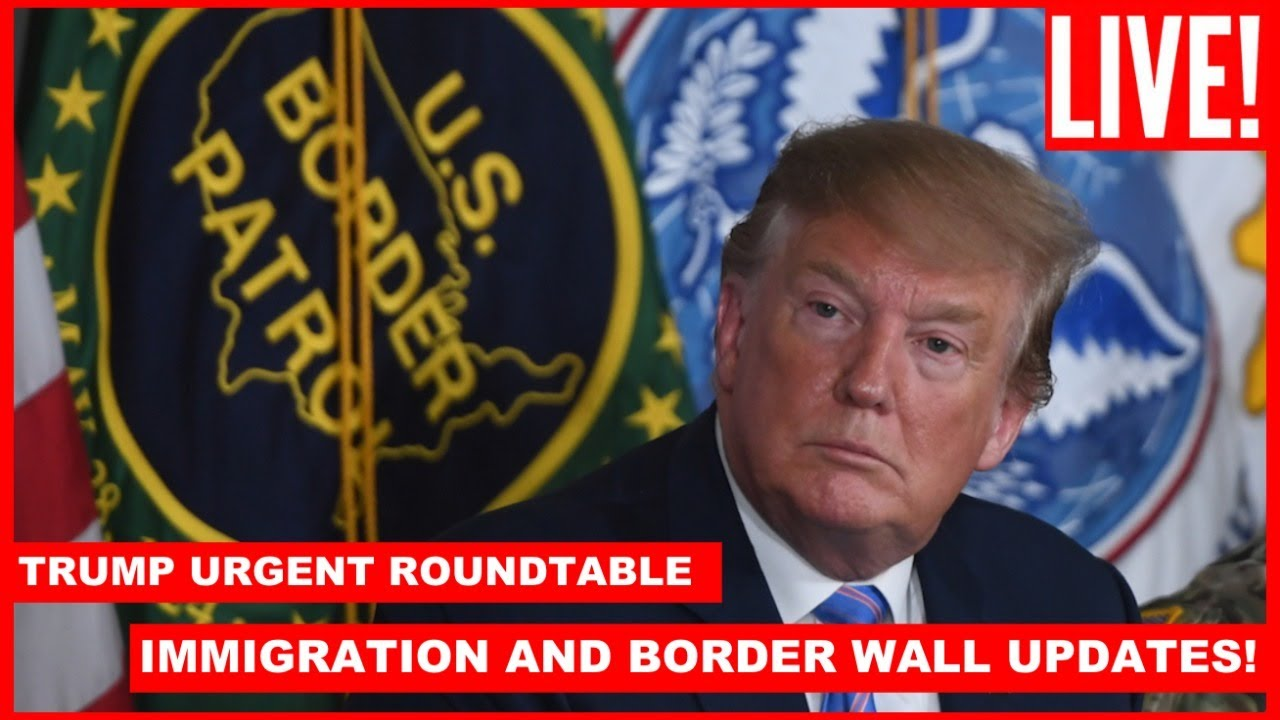 ?LIVE: President Trump URGENT Roundtable on Border Security