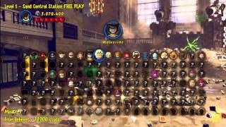 Lego Marvel Super Heroes: Level 1 Sand Central Station - Free Play (all Minikits/stan In Peril)- Htg