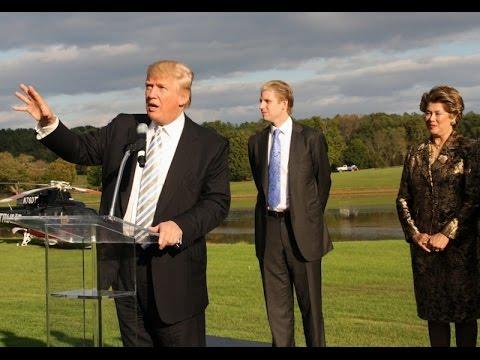 Donald Trump at Trump Winery (wine/alcohol/drug)