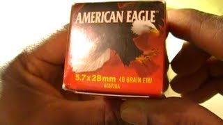 5.7x28mm American Eagle Ammo Unboxing