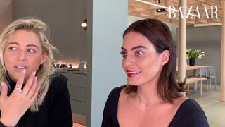 Karen Wazen Recreates A Red Carpet Look With Toni Malt | Bazaar Beauty | Harper