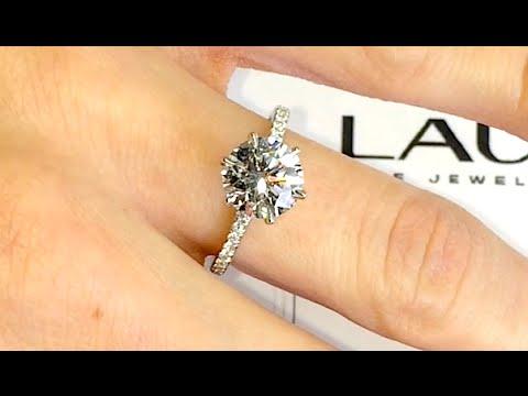 1.80 Carat Round Diamond Engagement Ring