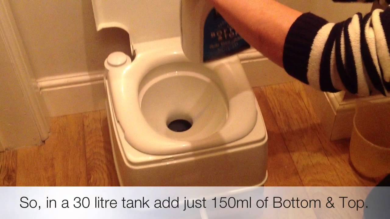 Bottom and Top - All in one caravan and Motorhome toilet fluid and ...