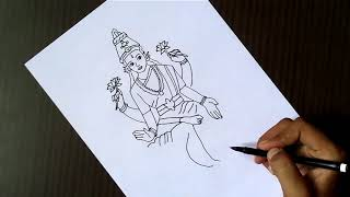 How to draw Lord Laxmi ji | drawing for kids | Laxmi Puja