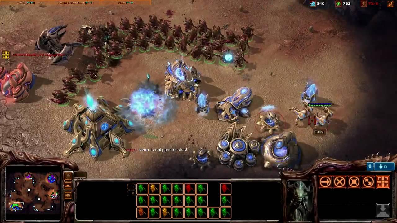 Starcraft 2 Gameplay - 1v1 Protoss vs Zerg Hydralisk (Best of eSports Top  10 Games)