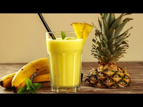 How To Make Pineapple Banana Smoothie - Home Cooking Lifestyle