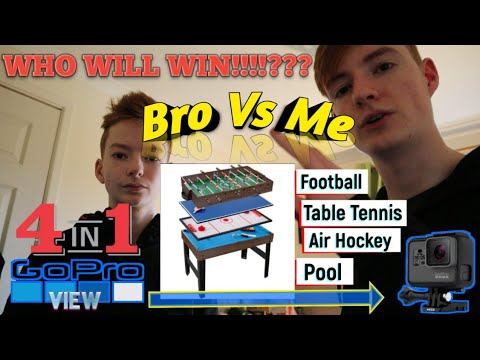 4 in 1 Table Top Game |Table Tennis - Air Hockey - Football - Pool |WHO WILL WIN OVERALL!!!!//GT