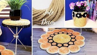 DIY JUTE HOME DECORATION IDEAS| INEXPENSIVE ROOM DECOR 2019!!!