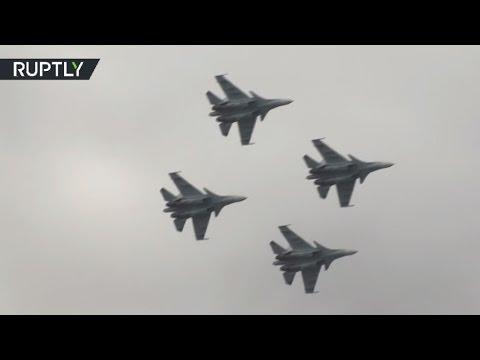 Показательные полеты «Соколов России» и «Русских Витязей» на Су-30 в рамках «Армии-2016»