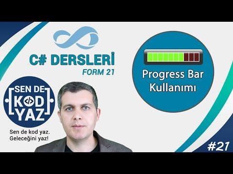 21-C # Progress Bar Usage and Properties, C# Tutorial 2018