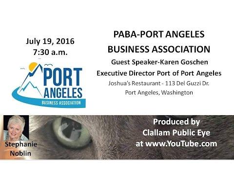 2016 07 19 PABA  Karen Goschen Executive Director Port of Port Angeles