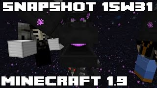 Minecraft 1.9 Snapshot 15w31a - New Mobs, New Blocks, New Combat and much more!