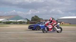 Video: 2012 Aprilia ART GP12 vs Audi R8 V10 Plus | Specals | Motorcyclenews.com