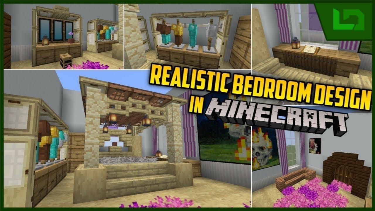 Realistic Girls Bedroom Design - Minecraft - YouTube