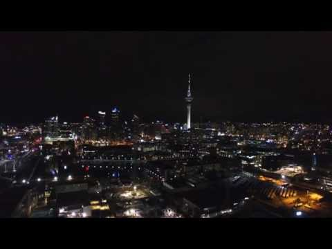 Drone Shot - Taken Of Auckland CBD From Silo Park