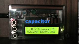Transistor Tester, Capacitor, ESR, Inductor, Resistor Meter