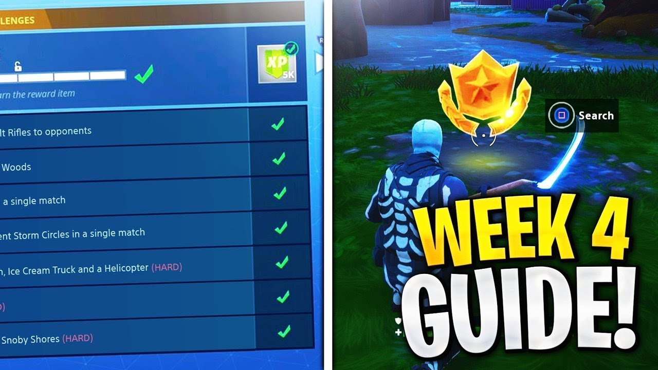 ALL Week 4 Challenges Guide! Search Between A Bench, Ice