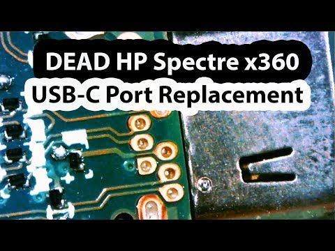 Dead HP Spectre X360 Laptop  USB-C Charging Port Connector Replacement - 13 W013dx No Power
